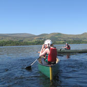Canoeing on Lough Mask